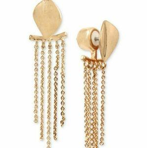 Kenneth Cole~ Dangling Leaf Front/Back Earrings